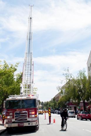 palo alto fire department unveils new ladder truck news palo