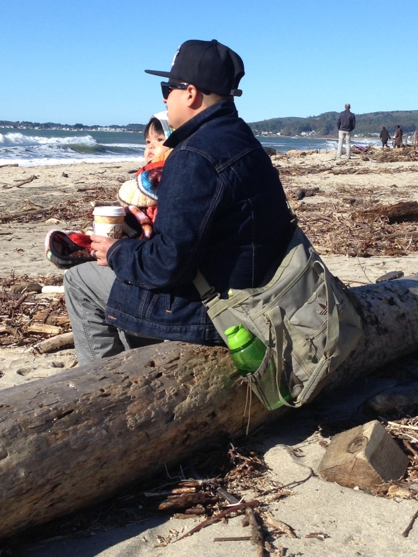 Mountain View native Miguel Luna takes in the ocean view in Half Moon Bay  with his daughter e5f5d2ef40a3