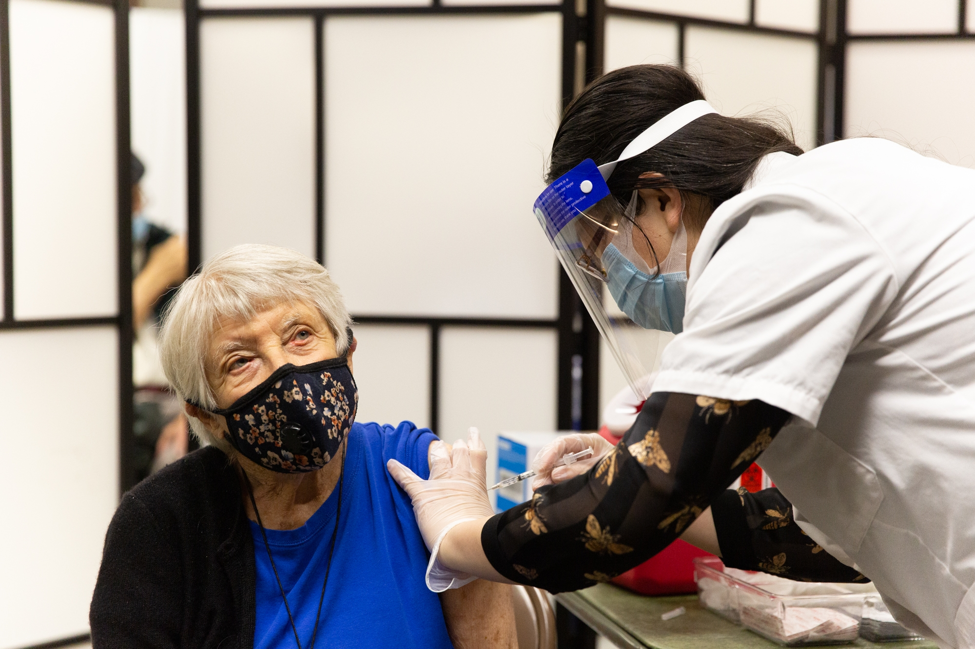 Relief, gratitude among seniors receiving COVID-19 vaccines